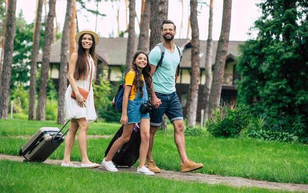 Gelukkige familie op vakantie