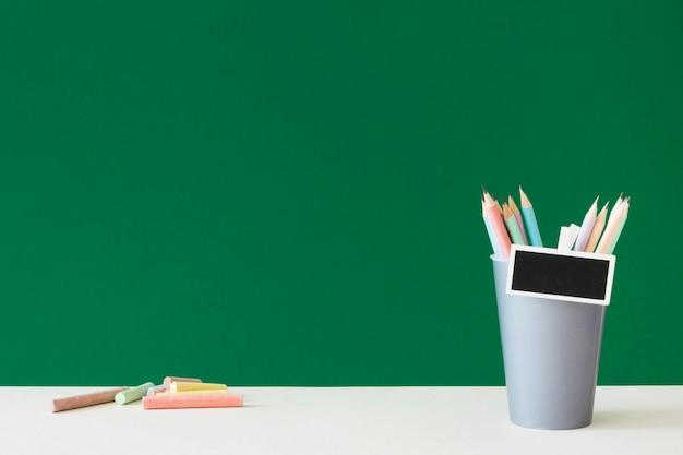 Gelukkige lerarendag en accessoires kopiëren ruimte