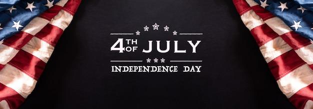 Gelukkige onafhankelijkheidsdag. amerikaanse vlaggen