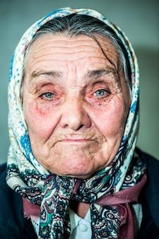 Gelukkige oude vrouw