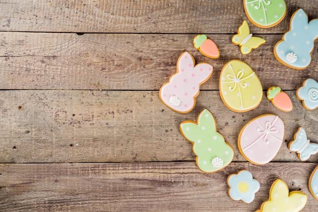 Gelukkige pasen-achtergrond met koekjes