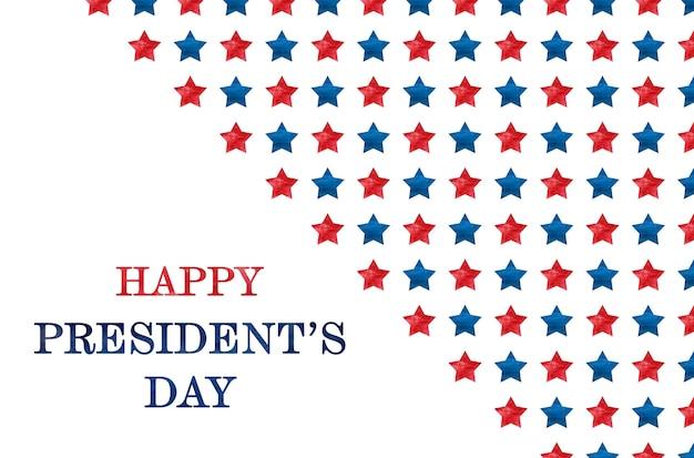 Gelukkige presidentendag. felicitatie inscriptie voor de vakantie.
