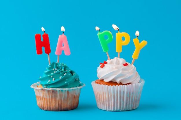 Gelukkige verjaardag cupcakes