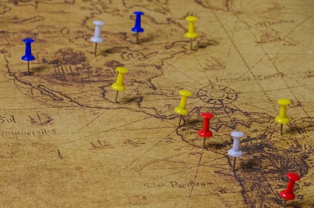 Gemarkeerde locatie op oude kaart