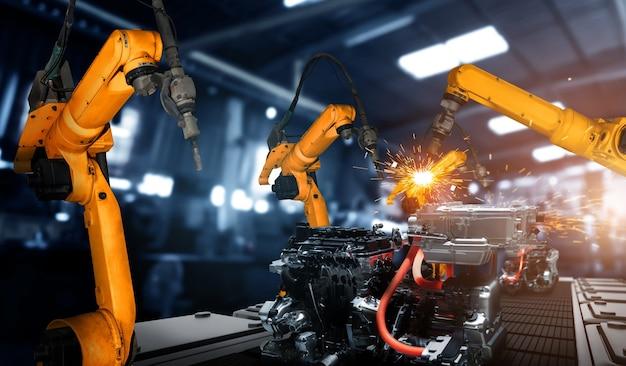 Gemechaniseerde industriële robotarm voor montage in fabrieksproductielijn