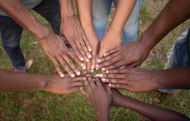 Gemeenschap concept met handen close-up