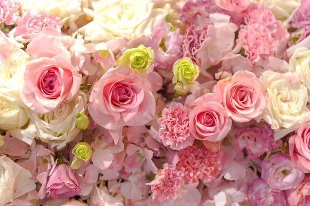 Gemengd bloemstuk, kleurrijke gemengde boeketbloemen