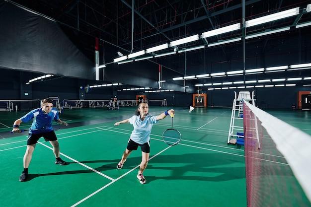 Gemengd dubbelspel badminton