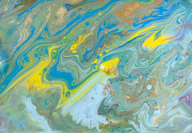 Gemengde gekleurde vervenachtergrond. gieten schilderij.
