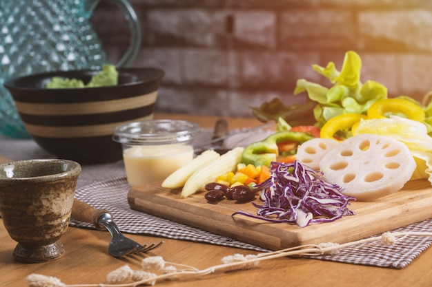 Gemengde groenten salade