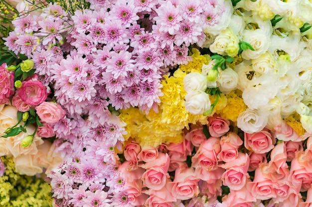 Gemengde huwelijksbloem, multi gekleurde bloemenachtergrond