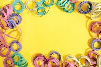 Gemengde kleurrijke streamers