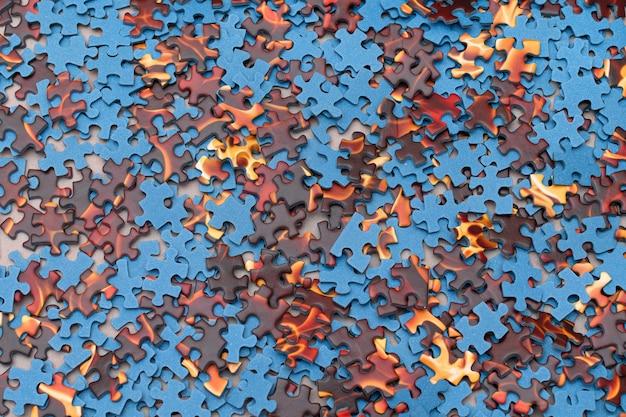 Gemengde puzzel stukjes achtergrond Premium Foto