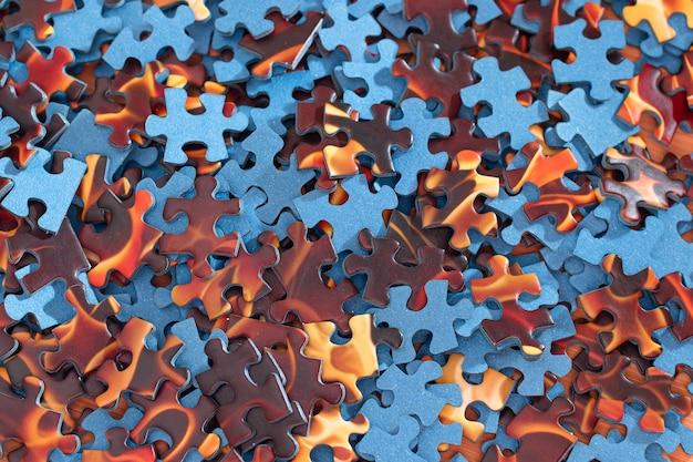 Gemengde puzzel stukjes achtergrond