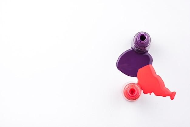 Gemorste nagellak met kopie ruimte