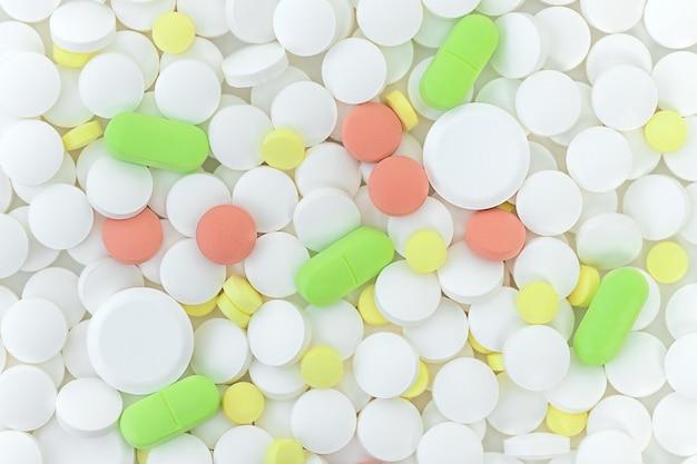 Geneeskunde achtergrond van kleur pillen