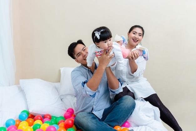Genegenheid van familie met ontspanningstijd