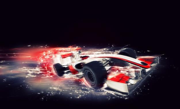 Generieke f1-auto met speciaal snelheidseffect