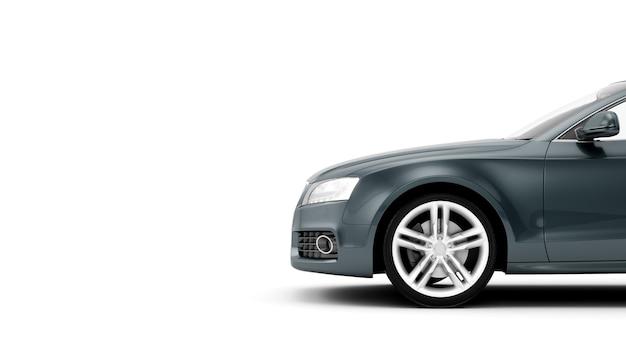 Generieke luxe sportwagen geïsoleerd op een wit oppervlak