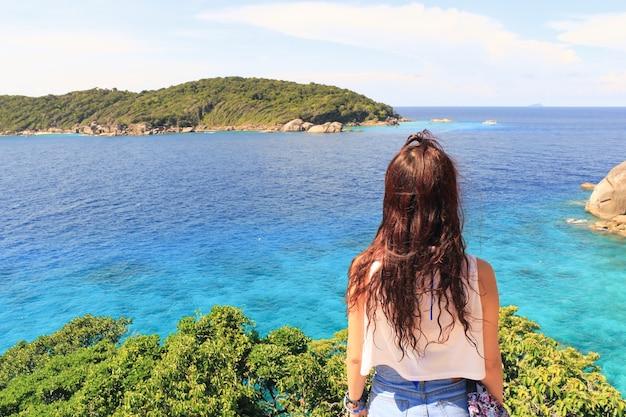 Genieten van de natuur vrijheid oceaan vakantie