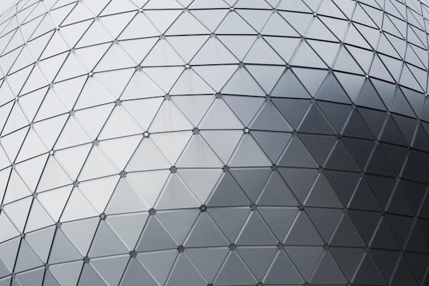 Geometrie aluminium composietmateriaal (acm) kantoorgebouw buiten ontvlambare bekleding.