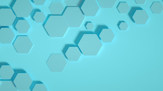 Geometrie zeshoek achtergrond. 3d-afbeelding, 3d-rendering.