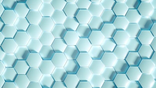 Geometrie zeshoek achtergrond. 3d illustratie, 3d-rendering.