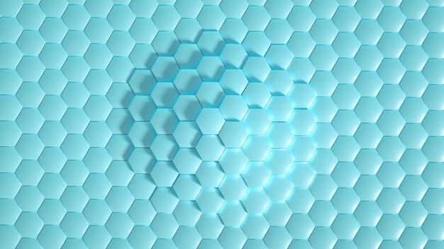 Geometrie zeshoek achtergrond 3d illustratie