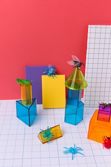 Geometrisch arrangement met 3d-vormen