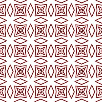 Geometrisch naadloos patroon. kastanjebruine symmetrische caleidoscoopachtergrond. hand getekend geometrische naadloze ontwerp. textiel klaar voor een mooie print, badmode stof, behang, inwikkeling.