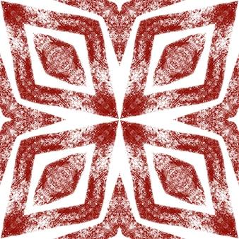 Geometrisch naadloos patroon. wijn rode symmetrische caleidoscoop achtergrond. hand getekend geometrische naadloze ontwerp. textiel klaar boeiende print, badmode stof, behang, inwikkeling.