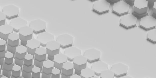 Geometrisch oppervlak met overvolle honingraatvormen