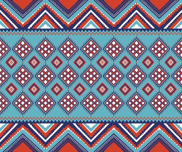 Geometrisch patroon naadloos in etnische stijl
