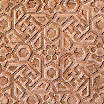 Geometrisch patroon op red fort