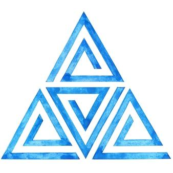 Geometrisch patroon van blauwe driehoeken moderne naadloze achtergrond met driehoeken