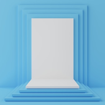 Geometrisch vormpodium voor product.