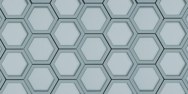 Geometrisch zeshoek veelhoekpatroon glanzende zeshoekige honingraat