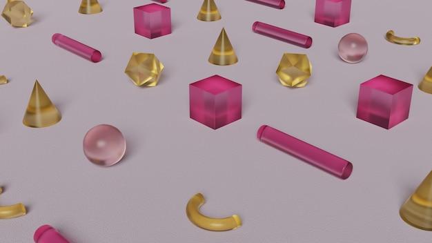 Geometrische abstracte glasvormen