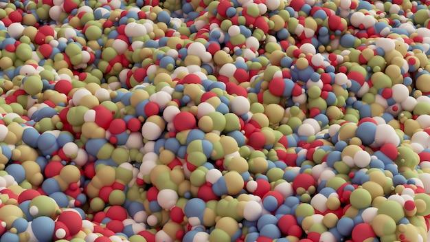 Geometrische deeltje veelkleurige achtergrond. 3d-weergave.