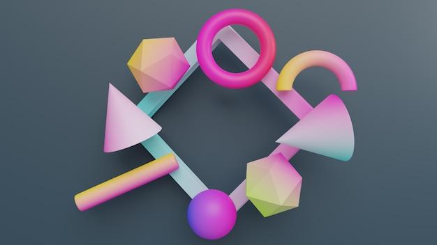 Geometrische gradiënt abstracte vormen