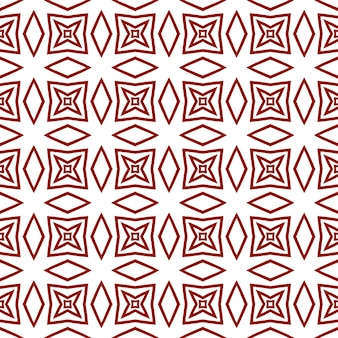 Geometrische naadloze patroon. kastanjebruine symmetrische caleidoscoopachtergrond. hand getekend geometrische naadloze ontwerp. textiel klaar voor een mooie print, badmode stof, behang, inwikkeling.