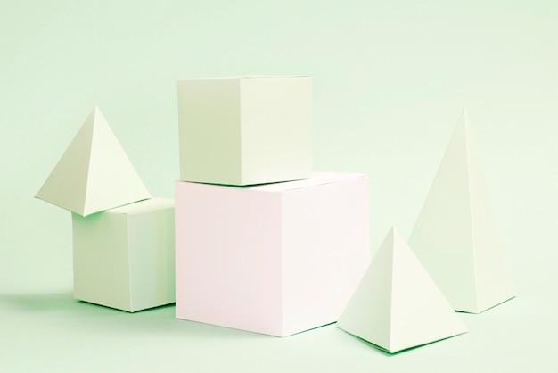 Geometrische papieren elementen