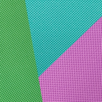 Geometrische plat lag blauw, groen en violet textuur