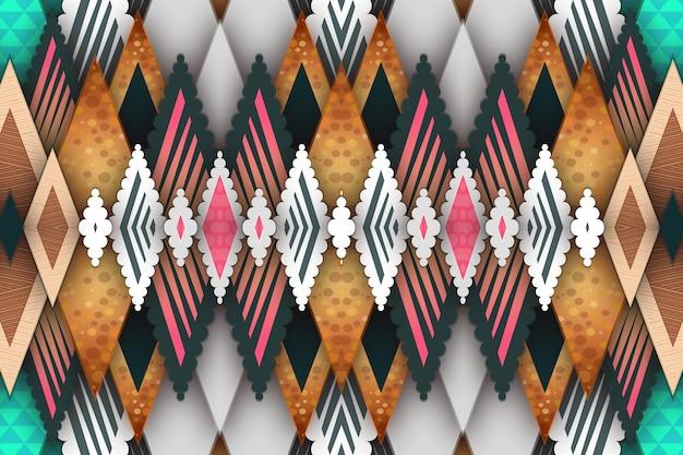 Geometrische ruit van verschillende kleur en textuur achtergrond sjabloon.