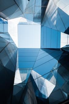 Geometrische structuur van blauwe kristallen
