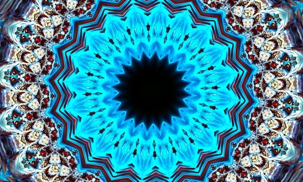 Geometrische thaise patroon gemengde kunst, polynesische kunst, mandala kunst. in de vorm van zeshoeken, driehoeken en zespuntige sterren. kaledoscooppatroon voor scrapbooking, cadeaupapier, boeken, boekjes, albums.