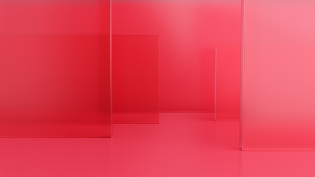 Geometrische vorm roze crèmescène minimaal