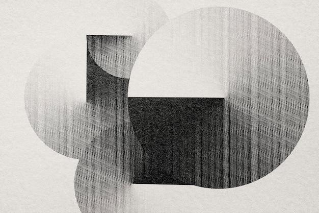 Geometrische vormachtergrond in graveerstijl Gratis Foto