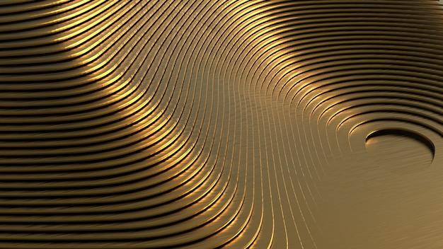 Geometrische vormen van complexe vorm gouden materiaal