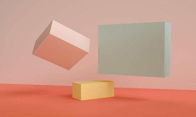Geometrische vormscène minimaal